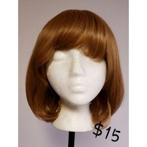Brown Curly Bob Wig
